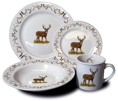 Our natural colored stoneware features your choice of many outdoor themes. Our stoneware is hand-decorated and fired in the USA and is microwave and ...  sc 1 st  Fishing Gifts Hunting Gifts and Log Cabin Decor & DI Exclusive Series